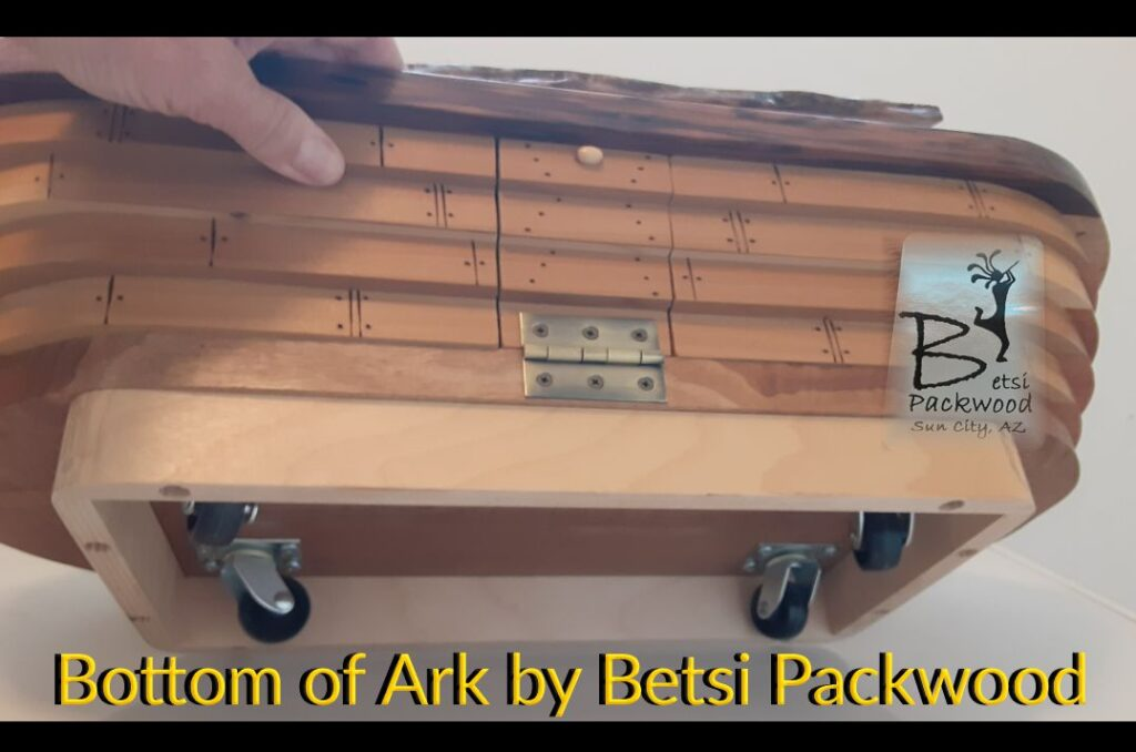 Wooden Ark by Betsi Packwood - Bottom has easy roll Rollers