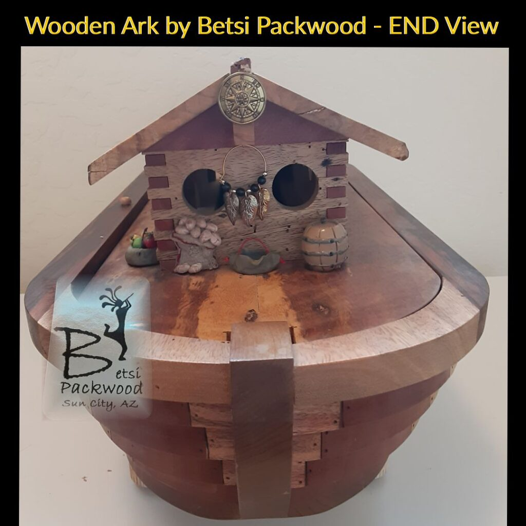 Wooden Ark by Betsi Packwood - Closed End View of Ark