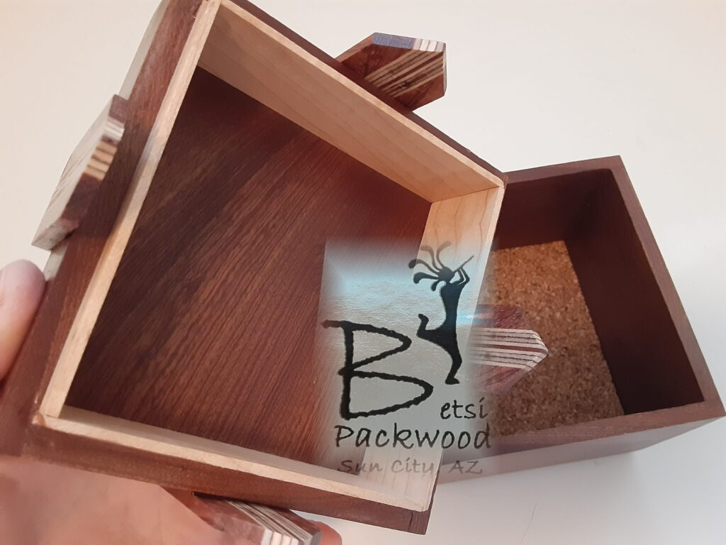 Betsi Packwood is 81 years young and still making and teaching others to make these Bow Boxes.