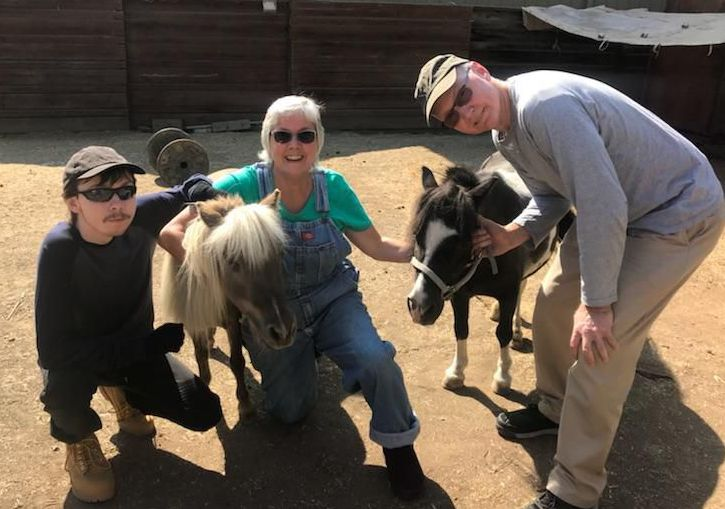 Our family adopts two minis from Angels For Minis Rescue in Walnut Creek, CA, in August 2018